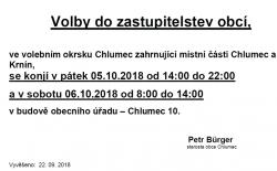 Výsledky voleb do zastupitelstva obce Chlumec 2018